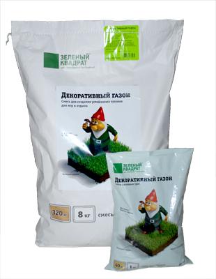 Газонная травосмесь ДЕКОРАТИВНЫЙ Зеленый Квадрат купить в Нижнем Новгороде
